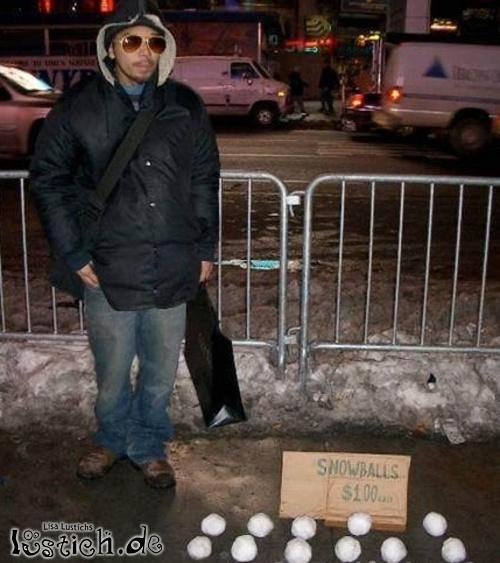 Schneebälle verkaufen