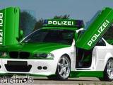 Stylishes Polizeiauto