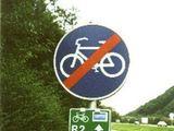 Radweg verboten