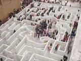Labyrinth aus Schnee