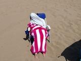 Rothaarige am Strand
