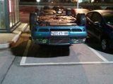 Falsch herum geparkt