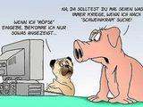 Mops und Schwein