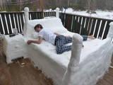 Eisiges Bett