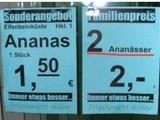 Wie viele Ananas?