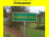 Kleine Geschichte mit Ortsnamen