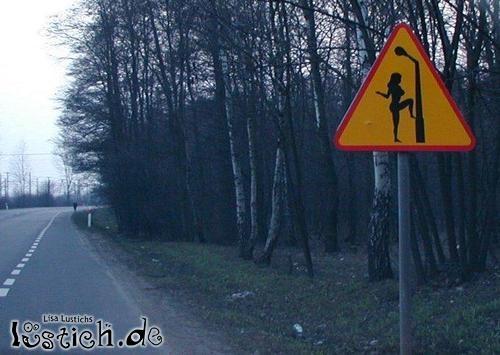 Ein merkwürdiges Schild