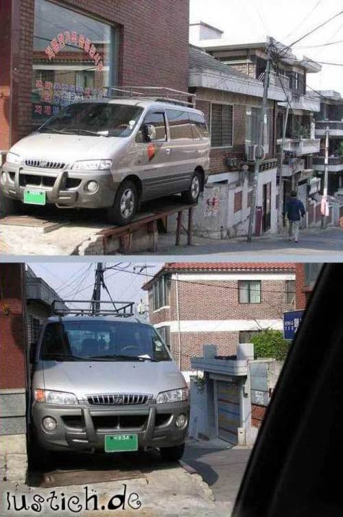 Verrückter Parkplatz