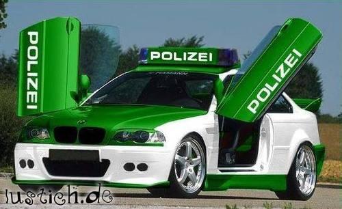 Stylishes Polizeiauto