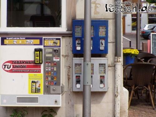 Gut platzierter Kaugummiautomat