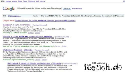 Googles grammatisches Korrekturhilfen