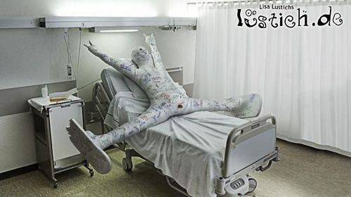 Snowboarder im Krankenhaus