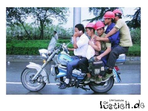 Familienmotorrad