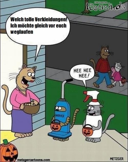 Katzen-Halloween