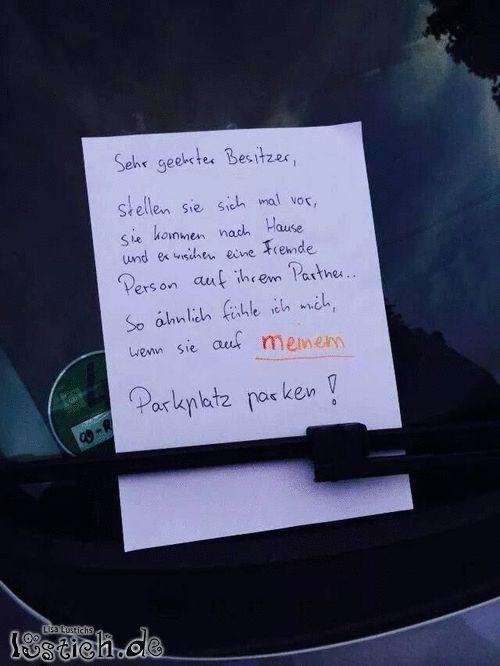 Fremder Parkplatz