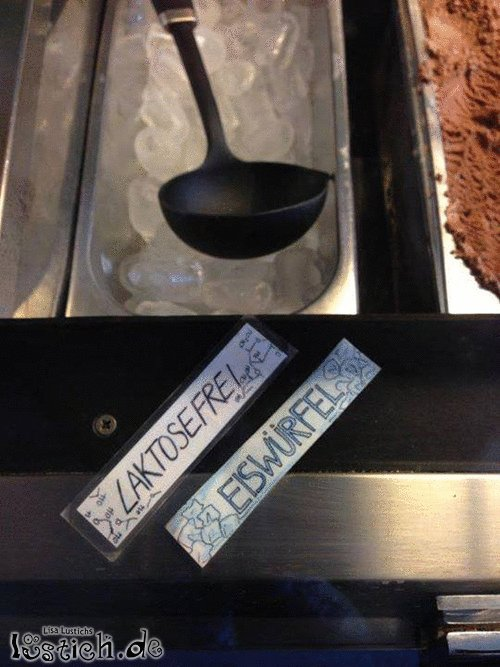Laktosefreies Eis