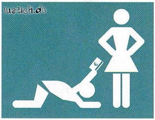 Materialistische Frau