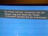 DVD Player Fehlermeldung