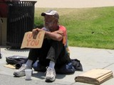 Ehrlicher Obdachloser