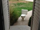 Toilette klopft an