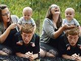 Idyllisches Familienfoto