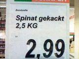 Gekackter Spinat