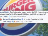 Burger King bei Facebook